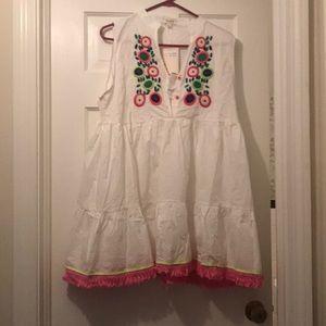 Velzera Embroidered shift dress